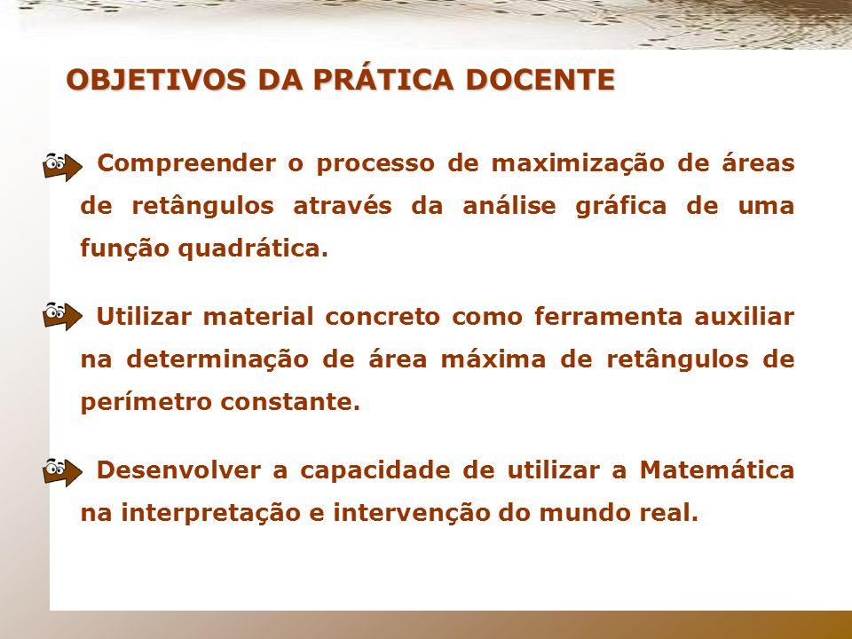 OBJETIVOS DA PRÁTICA DOCENTE