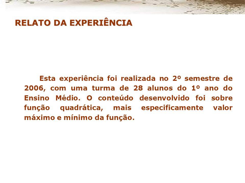 RELATO DA EXPERIÊNCIA