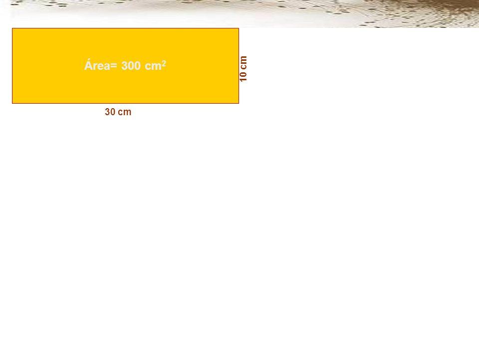 Área= 300 cm2 10 cm 30 cm
