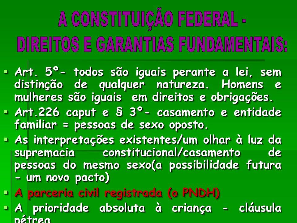 A CONSTITUIÇÃO FEDERAL - DIREITOS E GARANTIAS FUNDAMENTAIS:
