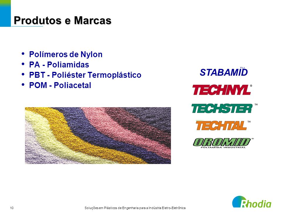 Produtos e Marcas STABAMID Polímeros de Nylon PA - Poliamidas