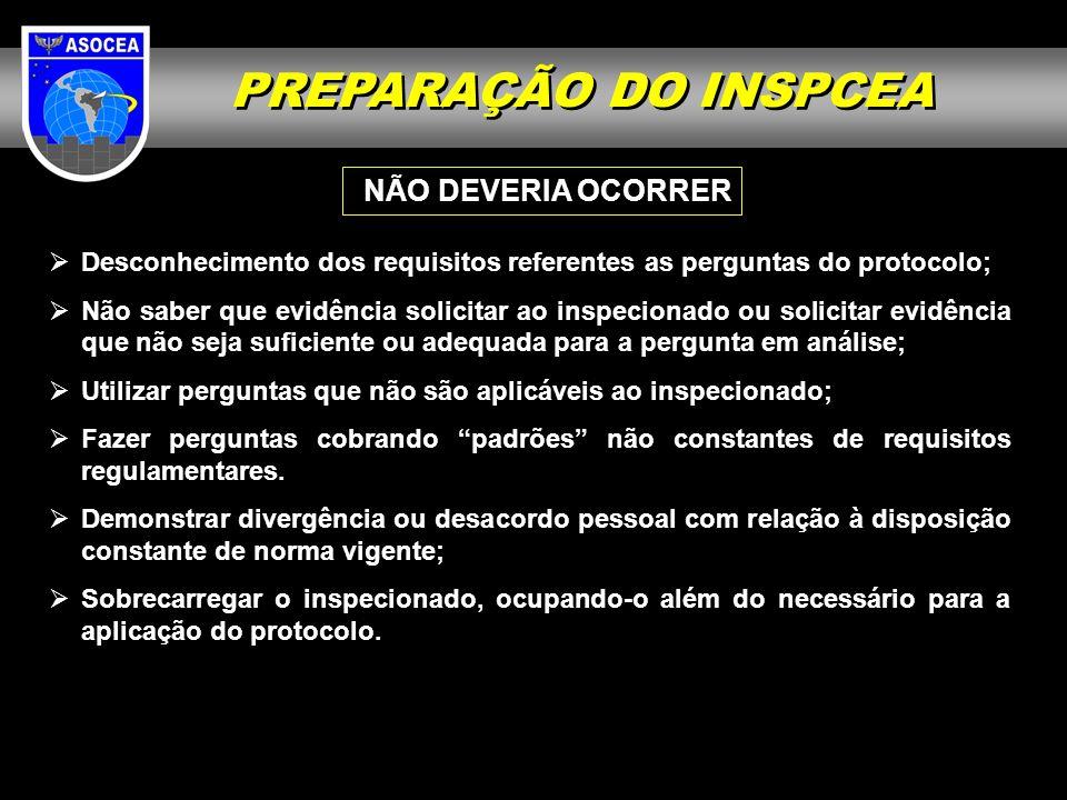 PREPARAÇÃO DO INSPCEA NÃO DEVERIA OCORRER