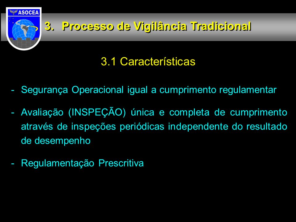 Processo de Vigilância Tradicional
