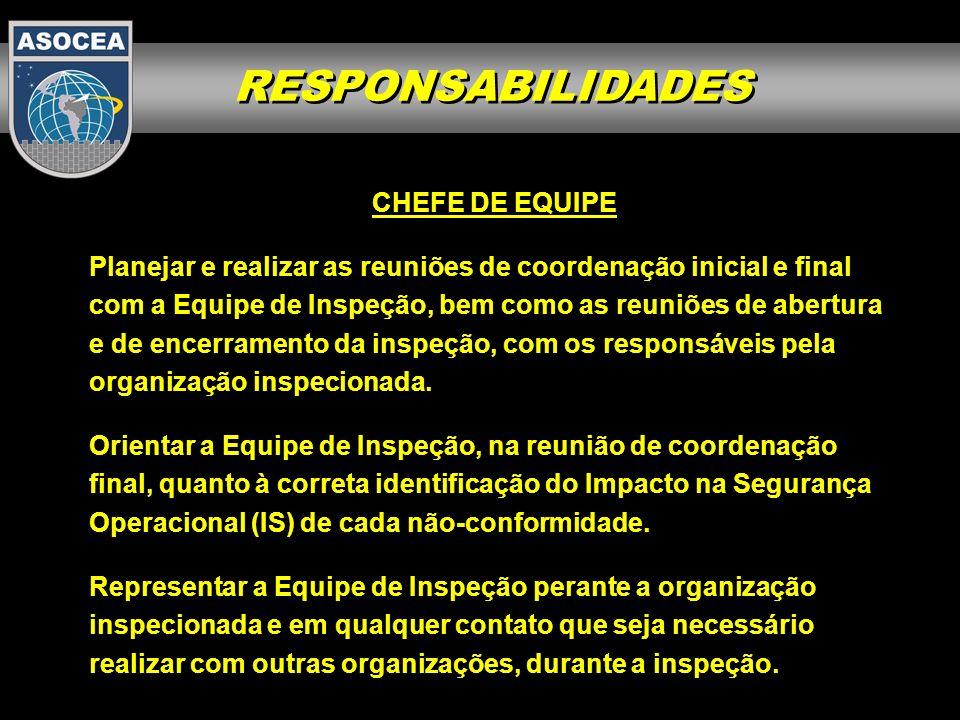 RESPONSABILIDADES CHEFE DE EQUIPE