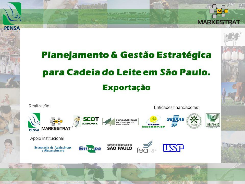 Planejamento & Gestão Estratégica para Cadeia do Leite em São Paulo.
