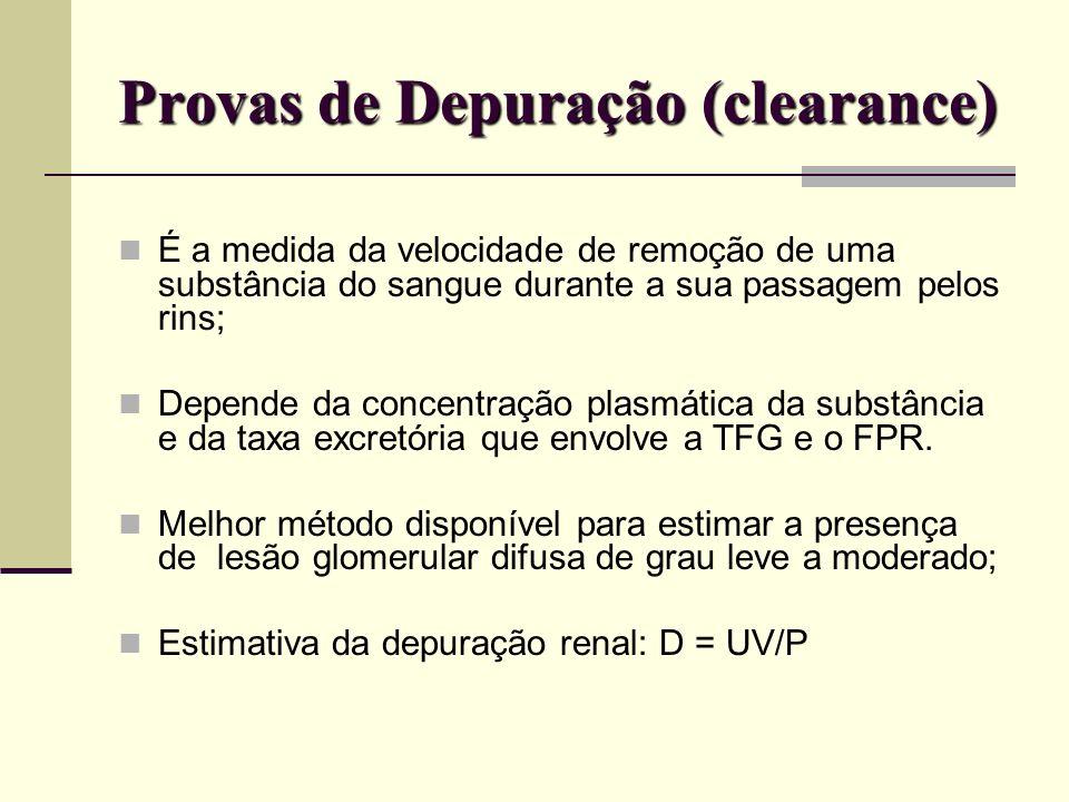 Provas de Depuração (clearance)