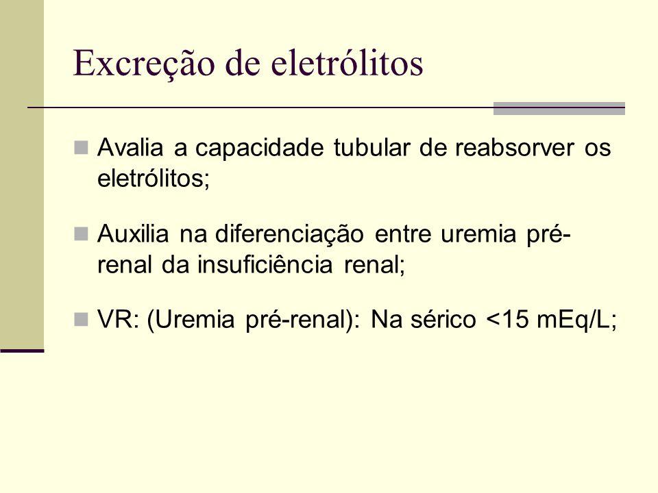 Excreção de eletrólitos
