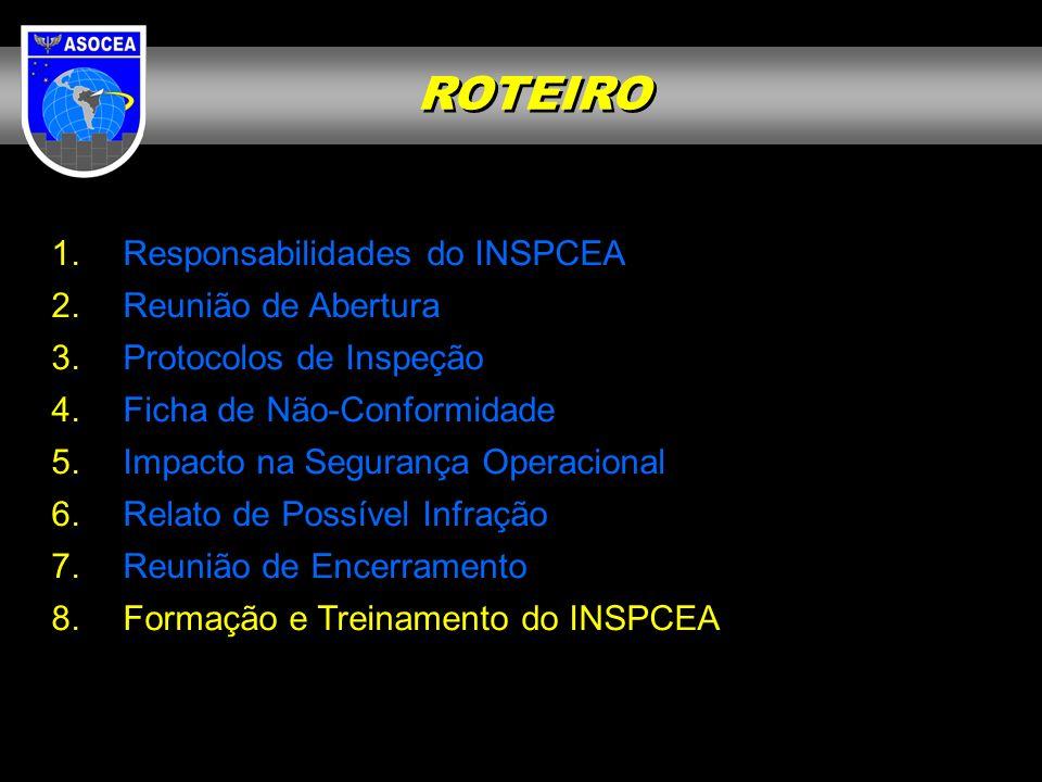 ROTEIRO Responsabilidades do INSPCEA Reunião de Abertura