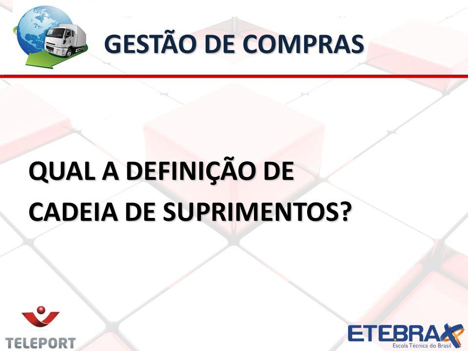 GESTÃO DE COMPRAS QUAL A DEFINIÇÃO DE CADEIA DE SUPRIMENTOS