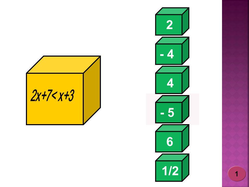 2 - 4 4 2x+7< x+3 - 5 6 1/2 1
