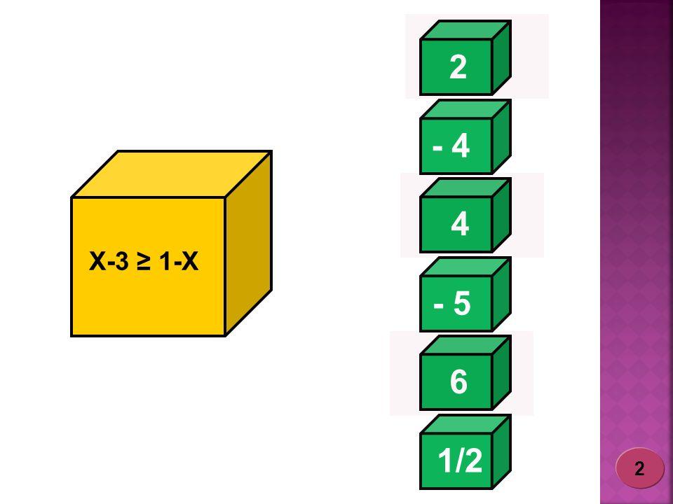 2 - 4 4 X-3 ≥ 1-X - 5 6 1/2 2