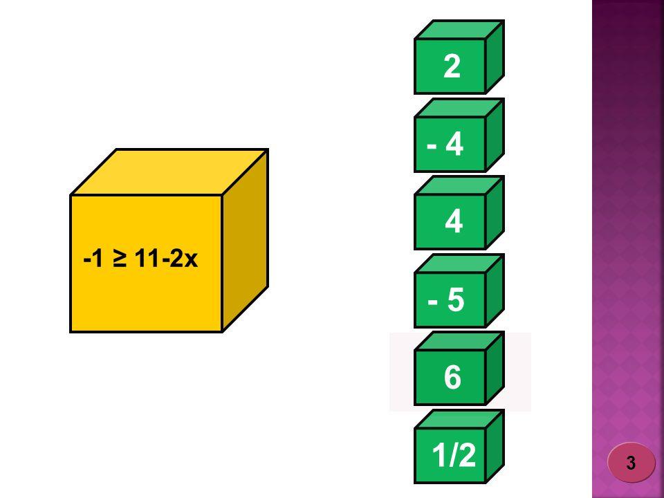 2 - 4 4 -1 ≥ 11-2x - 5 6 1/2 3