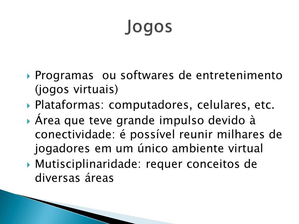 Jogos Programas ou softwares de entretenimento (jogos virtuais)