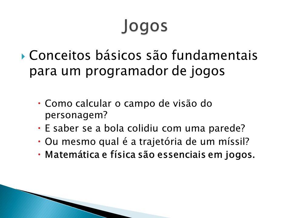 Jogos Conceitos básicos são fundamentais para um programador de jogos