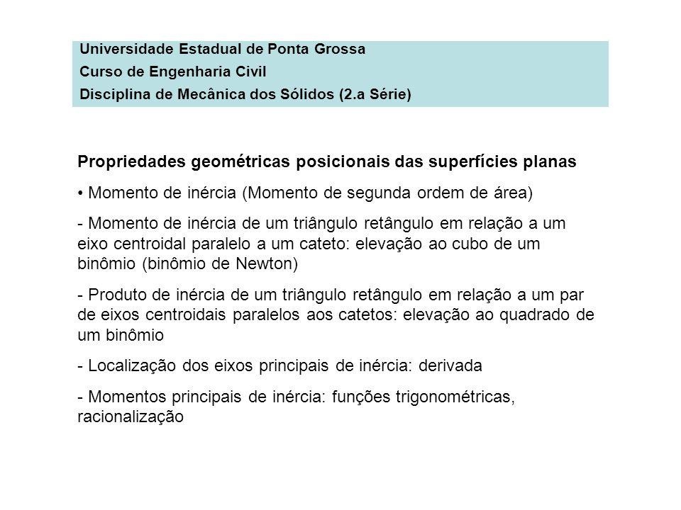 Propriedades geométricas posicionais das superfícies planas