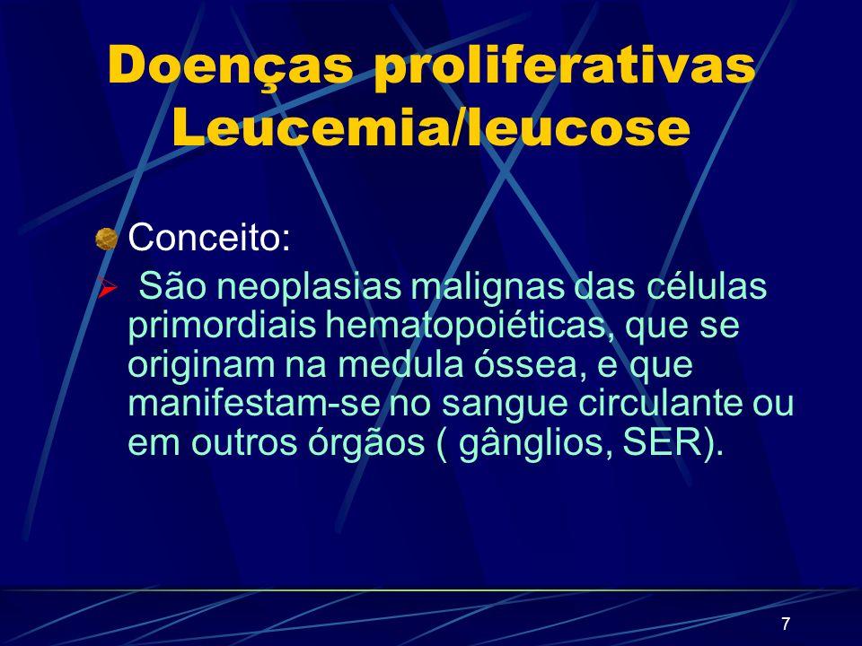 Doenças proliferativas Leucemia/leucose