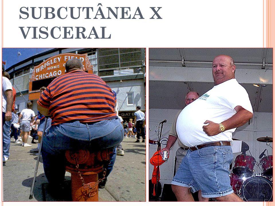 OBESIDADE SUBCUTÂNEA X VISCERAL
