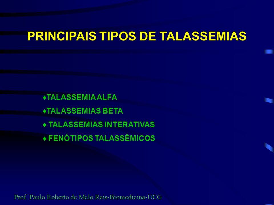 PRINCIPAIS TIPOS DE TALASSEMIAS