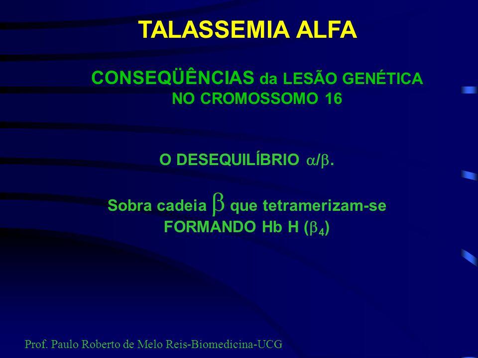 CONSEQÜÊNCIAS da LESÃO GENÉTICA NO CROMOSSOMO 16