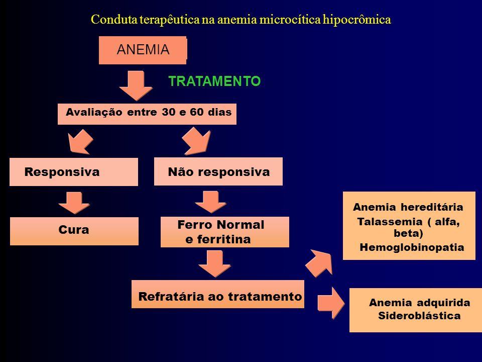 Conduta terapêutica na anemia microcítica hipocrômica