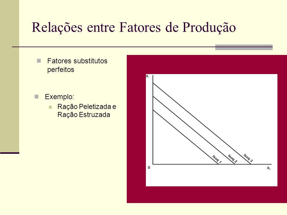 Relações entre Fatores de Produção
