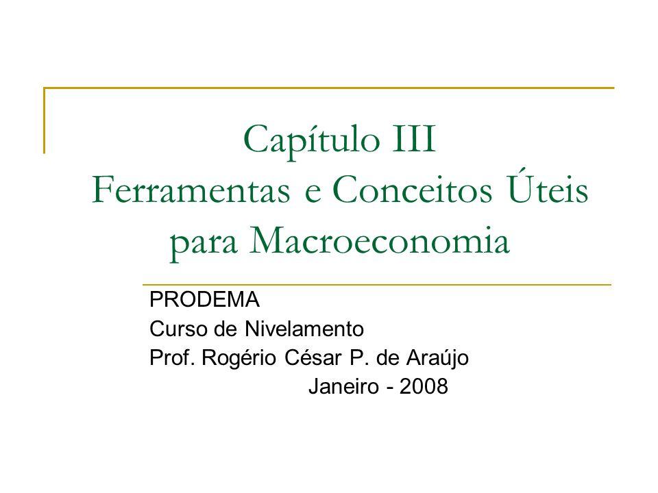 Capítulo III Ferramentas e Conceitos Úteis para Macroeconomia