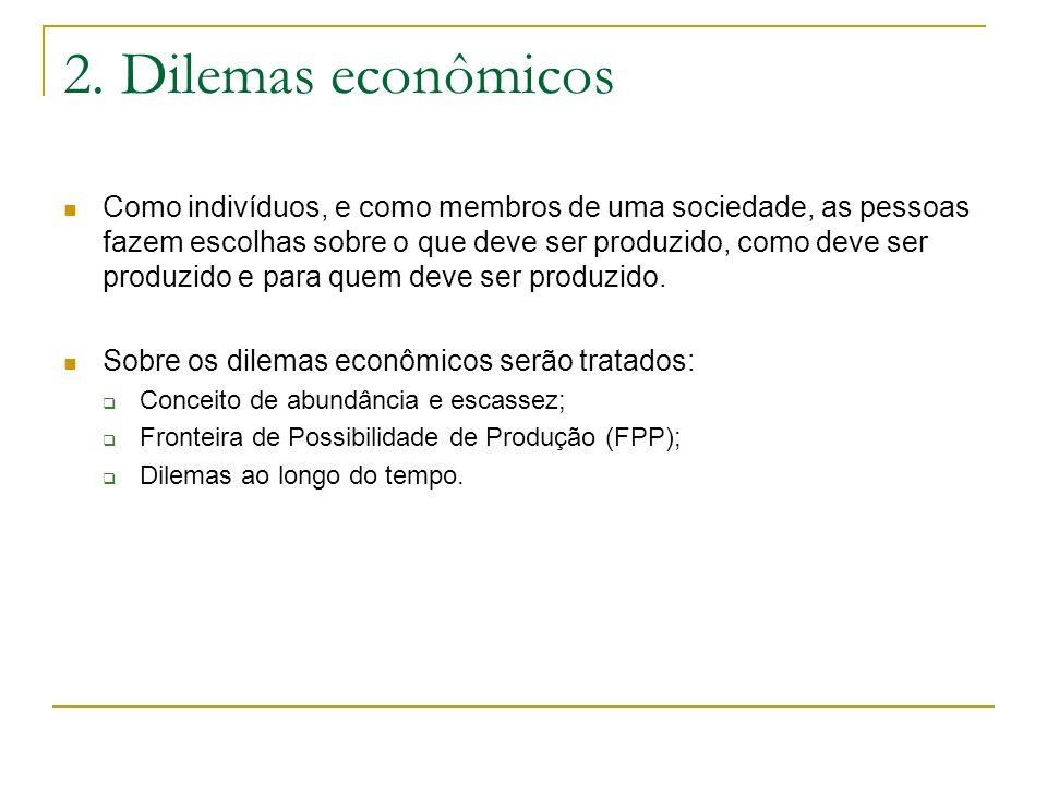 2. Dilemas econômicos
