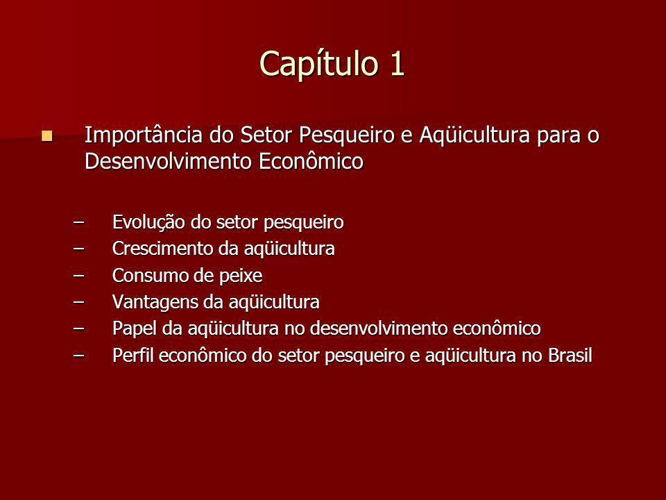 Capítulo 1 Importância do Setor Pesqueiro e Aqüicultura para o Desenvolvimento Econômico. Evolução do setor pesqueiro.
