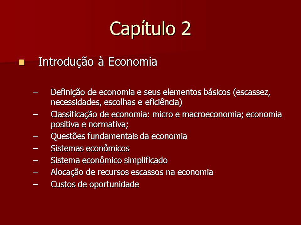 Capítulo 2 Introdução à Economia