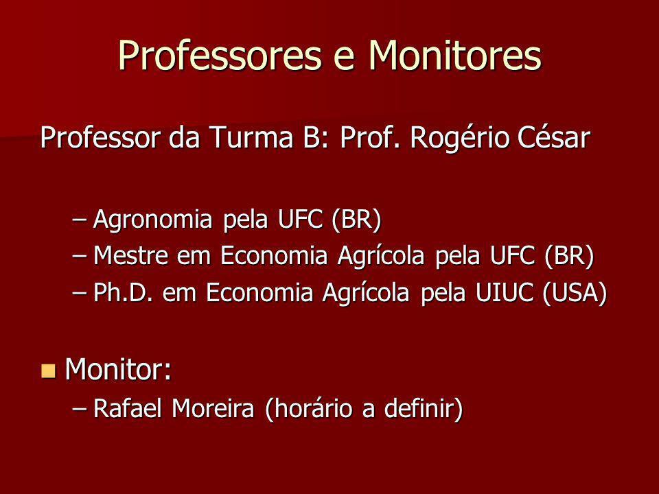 Professores e Monitores