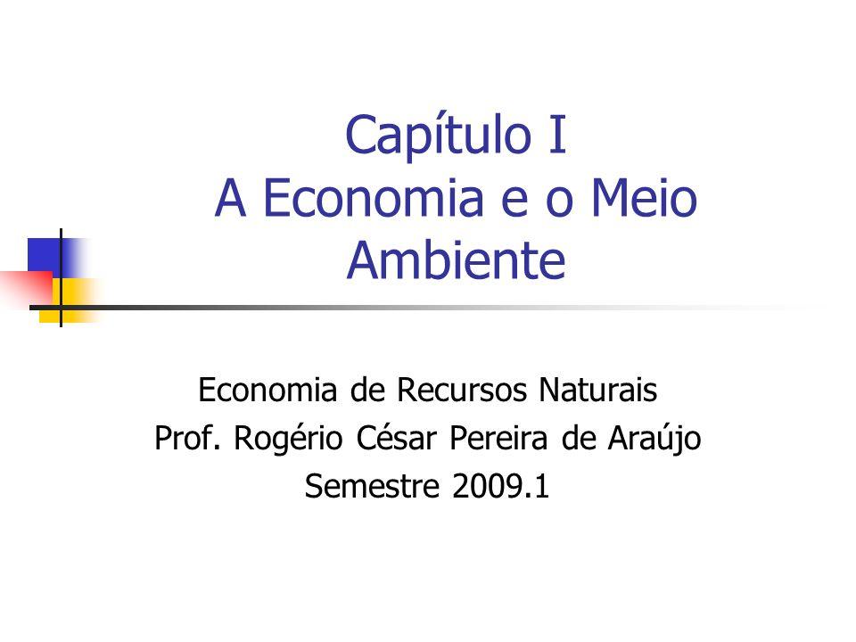 Capítulo I A Economia e o Meio Ambiente