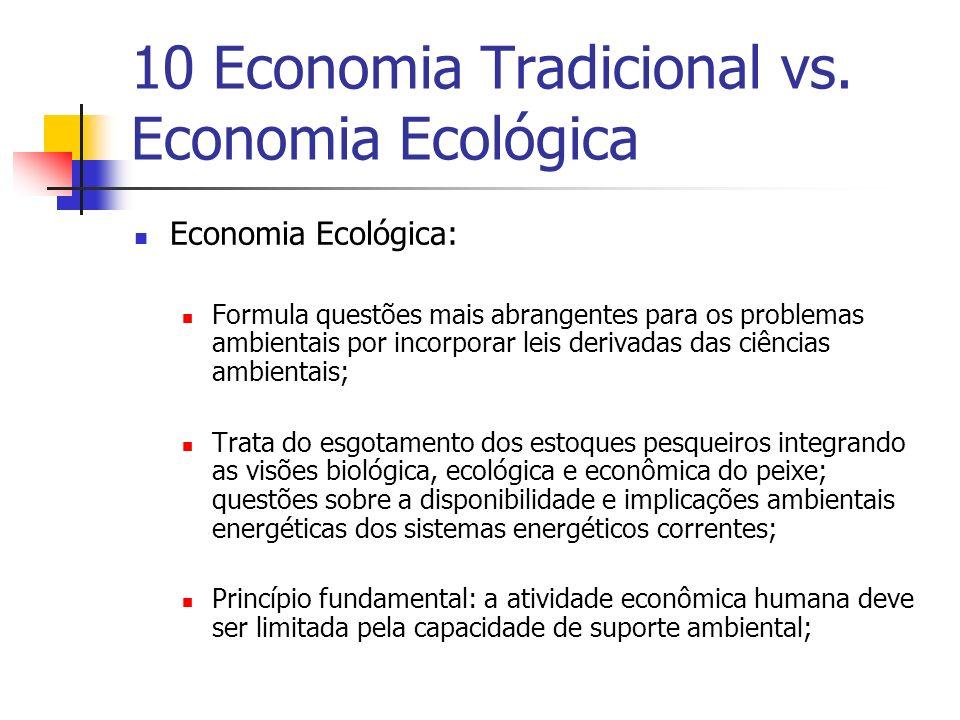 10 Economia Tradicional vs. Economia Ecológica
