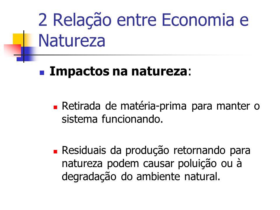 2 Relação entre Economia e Natureza