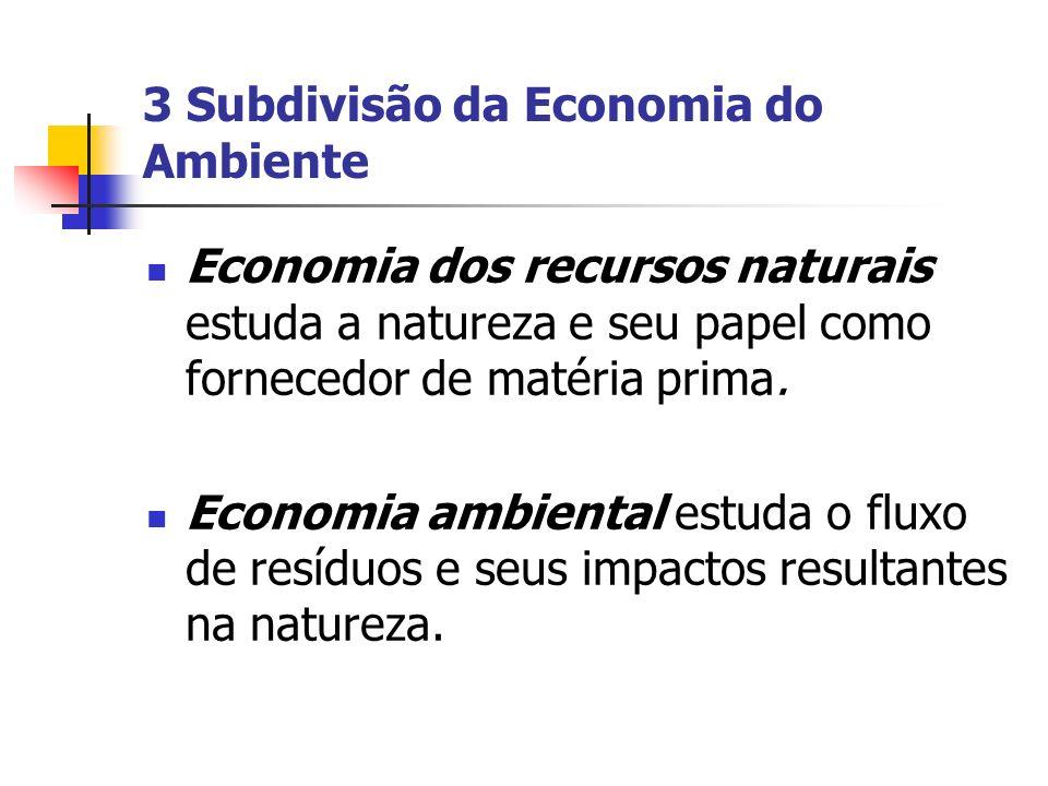 3 Subdivisão da Economia do Ambiente
