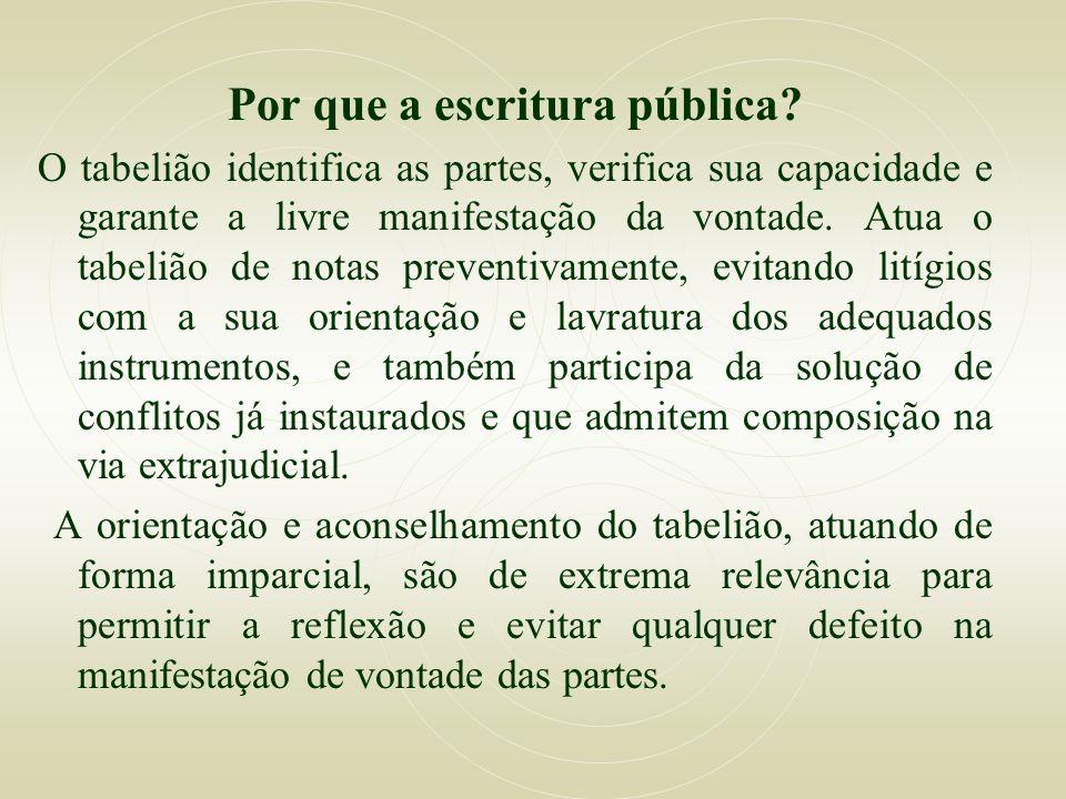 Por que a escritura pública