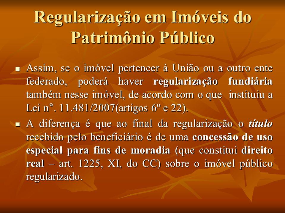 Regularização em Imóveis do Patrimônio Público
