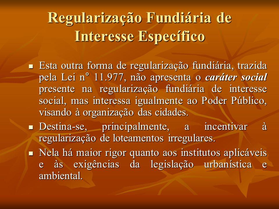 Regularização Fundiária de Interesse Específico