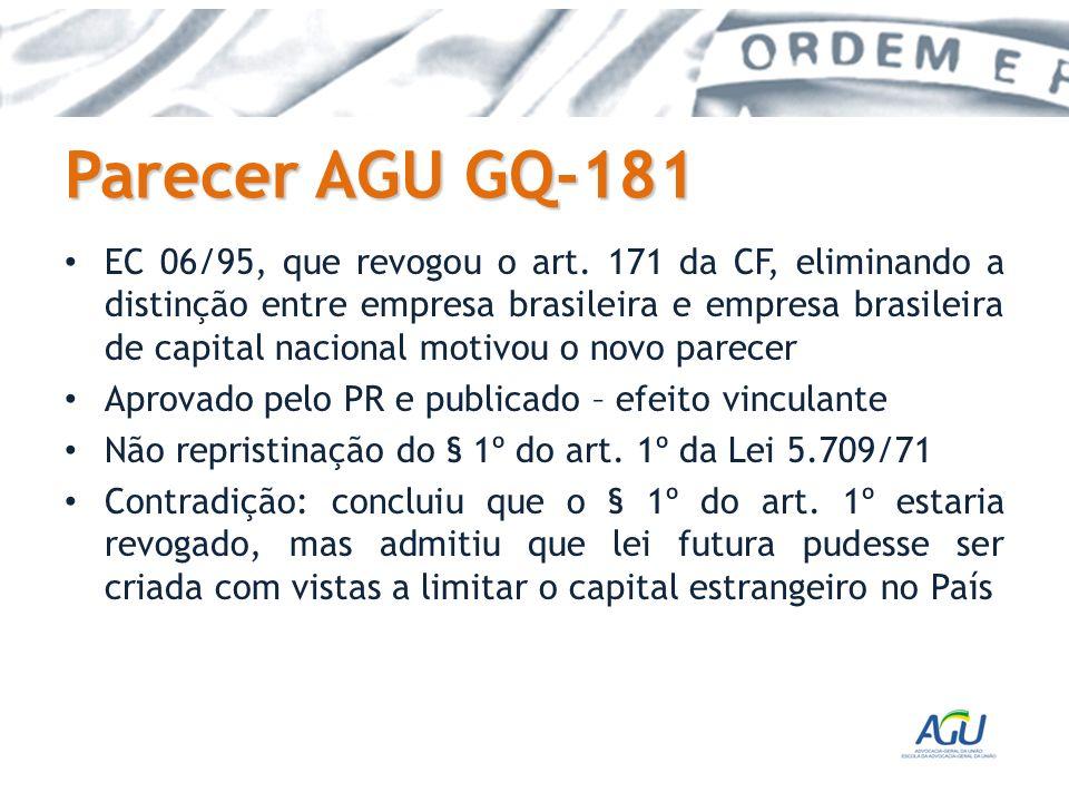 Parecer AGU GQ-181