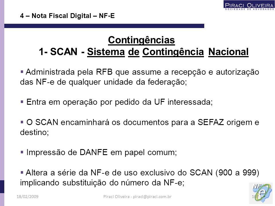 1- SCAN - Sistema de Contingência Nacional