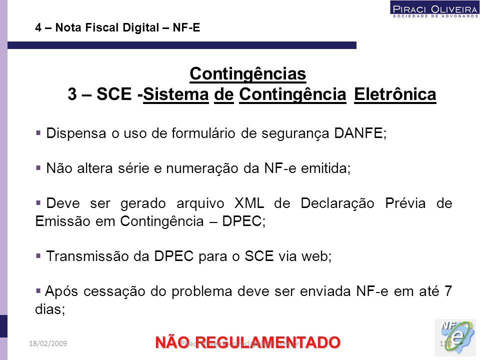 3 – SCE -Sistema de Contingência Eletrônica