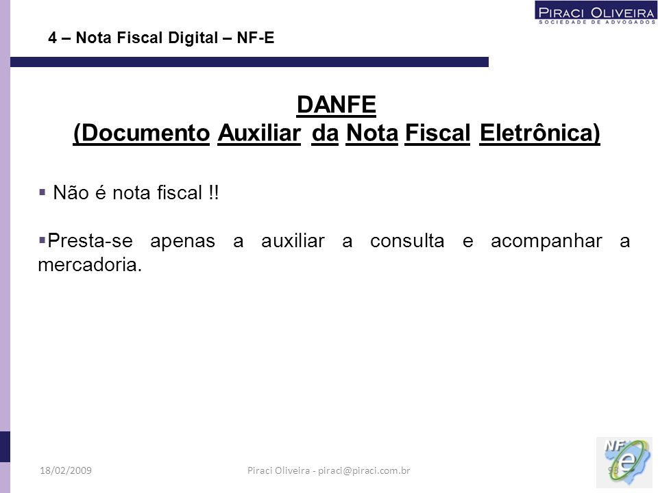 (Documento Auxiliar da Nota Fiscal Eletrônica)