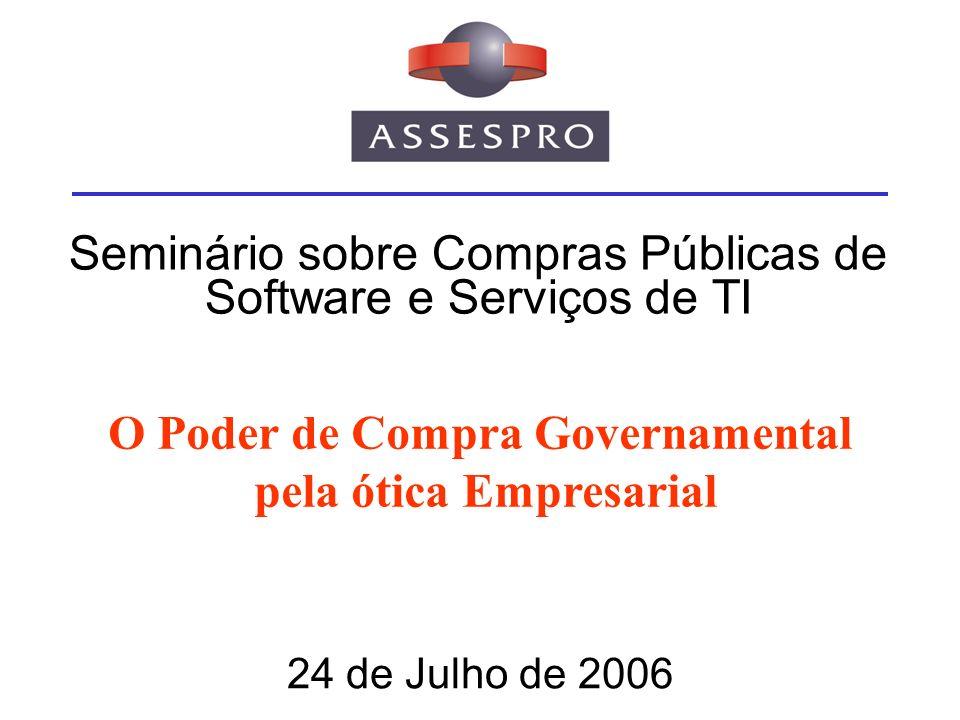Seminário sobre Compras Públicas de Software e Serviços de TI