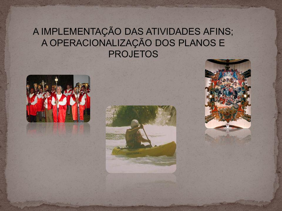A IMPLEMENTAÇÃO DAS ATIVIDADES AFINS;