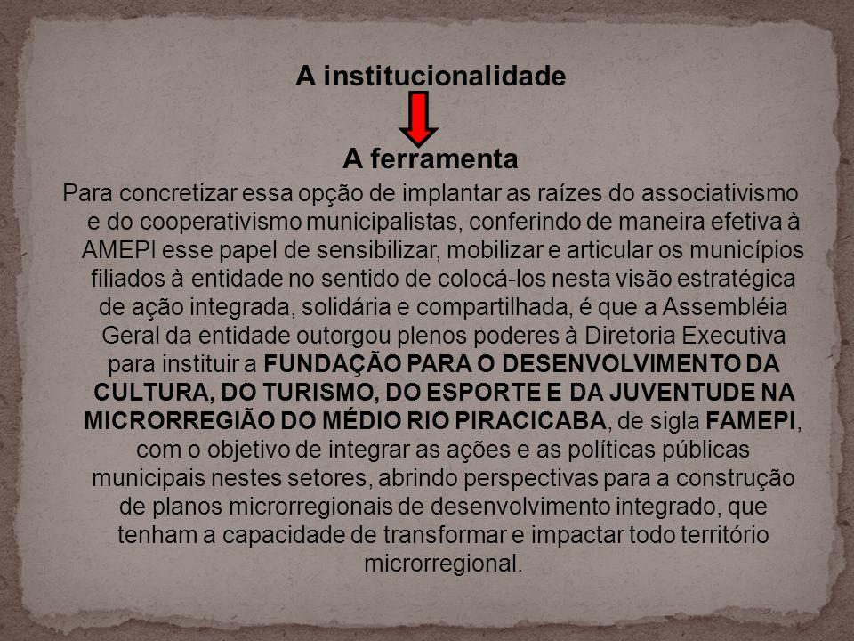 A institucionalidade A ferramenta