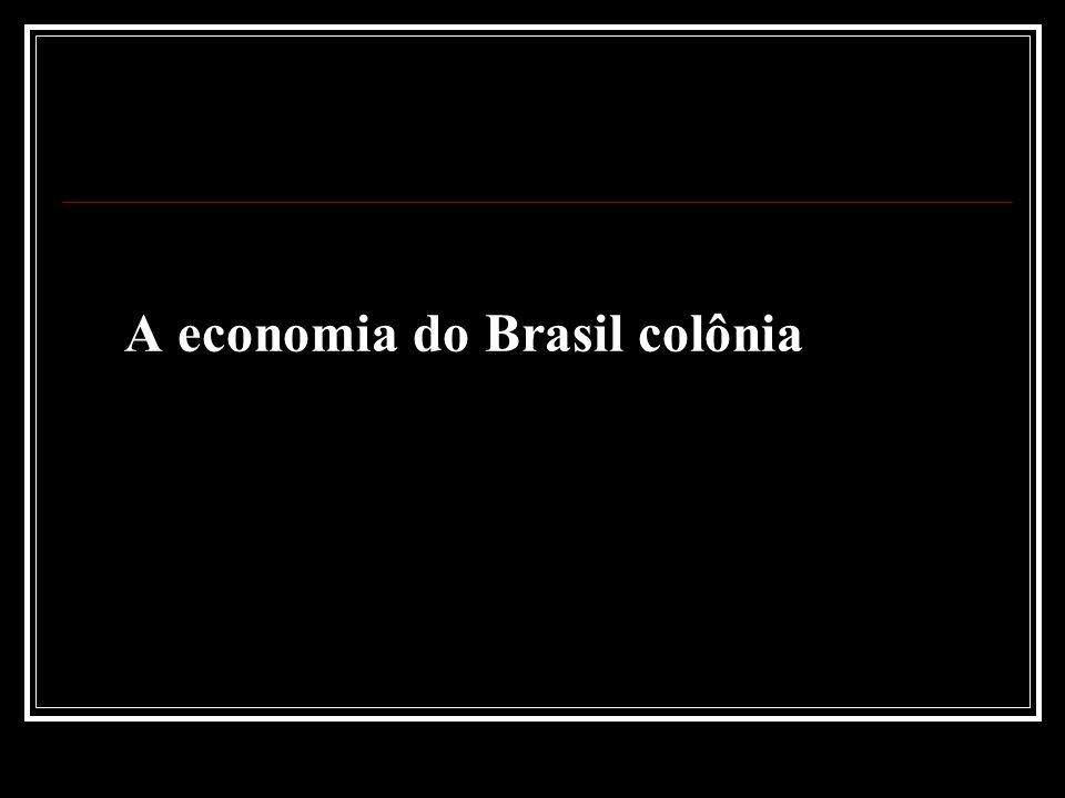 A economia do Brasil colônia