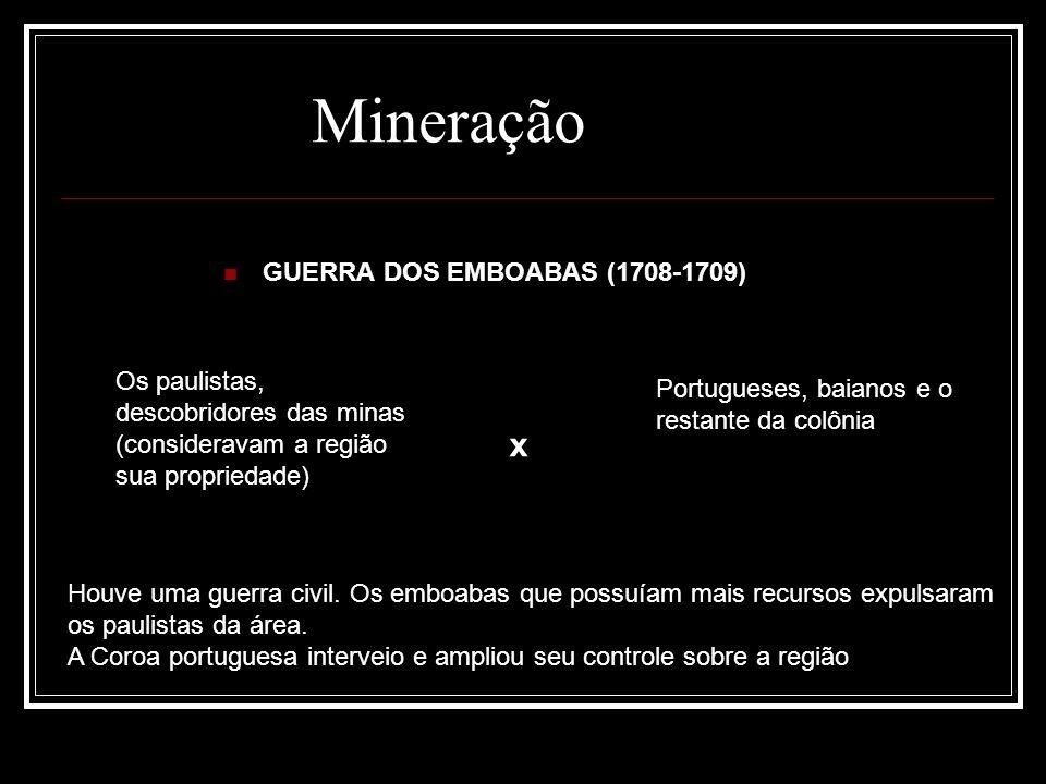 Mineração GUERRA DOS EMBOABAS (1708-1709)