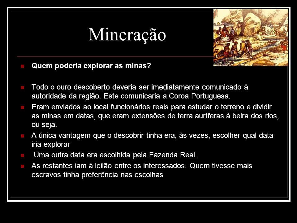 Mineração Quem poderia explorar as minas