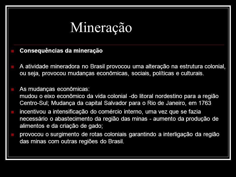 Mineração Consequências da mineração