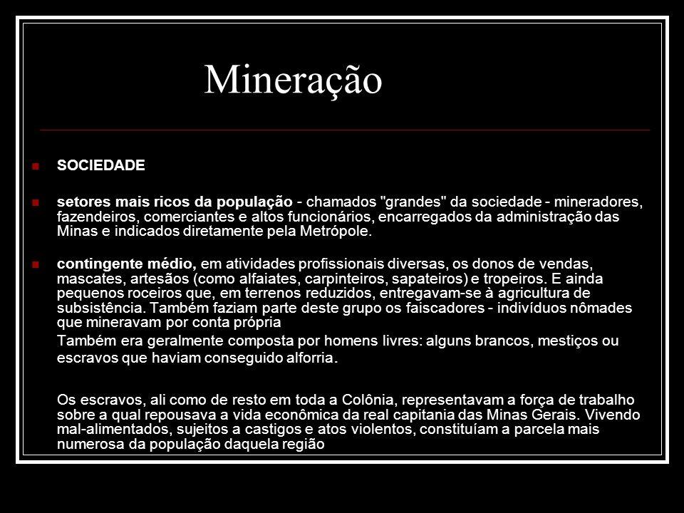 Mineração SOCIEDADE.