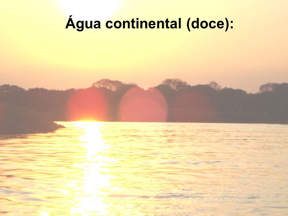Água continental (doce):